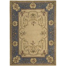 Ashton House Beige/Blue Rug