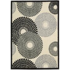 Graphic Illusions Parchment Cream Abstract Area Rug