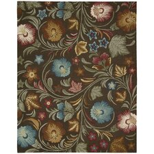 In Bloom Chocolate Rug