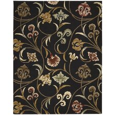 In Bloom Black Rug