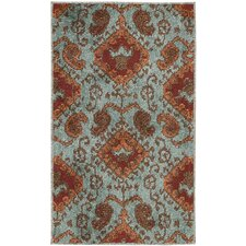 Kindred Aqua Outdoor Rug