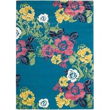 Wildflowers Turquoise Rug