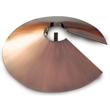 "22"" Brushed Copper Wrap Around Baffle"