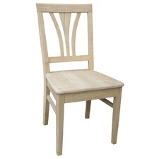 Unfinished Wood Fanback Side Chair (Set of 2)