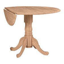 Round Dual Drop Leaf Dining Table