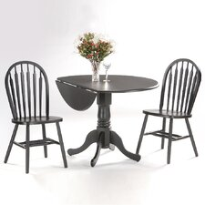 """Round 42"""" Dual Drop Leaf Dining Table"""