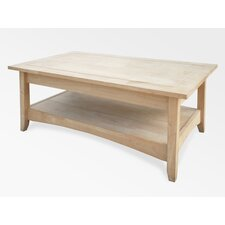 Unfinished Wood Bombay Coffee Table with Lift-Top