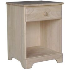 Unfinished 1 Drawer Nightstand