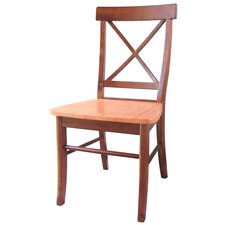 <strong>International Concepts</strong> Cross Back Side Chair (Set of 2)