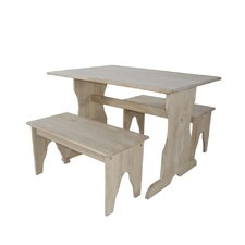 <strong>International Concepts</strong> Juvenile Kids' 3 Piece Table and Bench Set