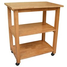 <strong>International Concepts</strong> Dining Essentials Kitchen Cart with Butcher Block Top