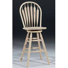 "<strong>International Concepts</strong> Unfinished Wood 30"" Swivel Bar Stool"