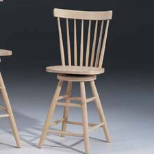 "<strong>International Concepts</strong> Unfinished Wood 24"" Copenhagen Swivel Stool"