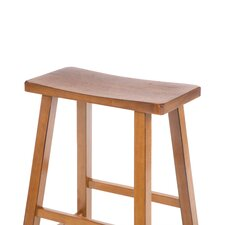 "24"" Saddleseat Counter Stool (Distressed Rustic Oak)"