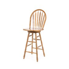 "30"" Arrowback Barstool (Oak) w/ Swivel"