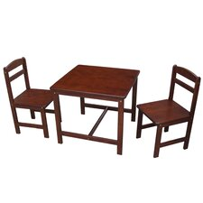 Juvenile Kids 3 Piece Square Table and Chair Set