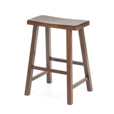 "24"" Saddleseat Counter Stool (Distressed Walnut)"