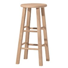 "Unfinished Wood 30"" Bar Stool"