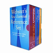 <strong>Houghton Mifflin</strong> Webster's New Essential Reference Three-Book Desk Set, Paperback