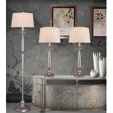 Table Lamp with Empire Shade (Set of 3)