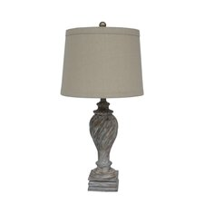 Resin Table Lamp in Antique White
