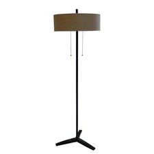 Poly and Metal Floor Lamp