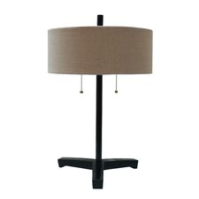 Poly and Metal Table Lamp