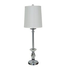 "32"" Metal and Crystal Buffet Table Lamp"