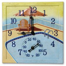 Poolside Clock and Thermometer