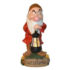 Disney Grumpy Holding Lighted Lantern Statue