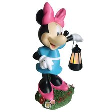 Disney Minnie Mouse Holding Lighted Lantern Statue