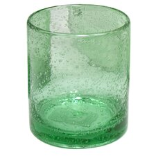 Iris Double Old Fashioned Glass in Light Green (Set of 4)