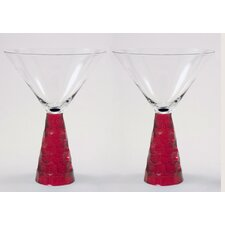 Prescott Martini Glass in Ruby (Set of 2)