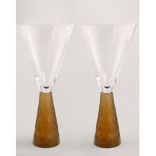 Prescott Wine Glass in Amber (Set of 2)