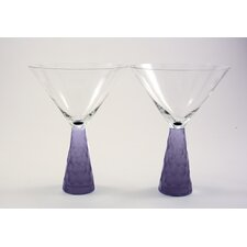 Prescott Martini Glass in Plum (Set of 2)