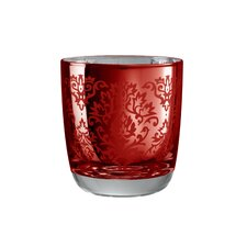 Brocade Double Old Fashioned Glass in Red (Set of 4)