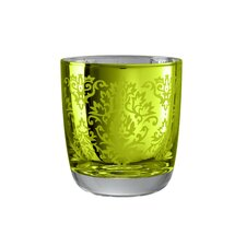 Brocade Double Old Fashioned Glass in Lemon Grass (Set of 4)