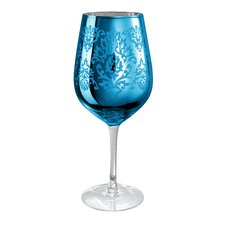 Brocade Goblet in Blue (Set of 4)