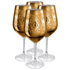 <strong>Artland</strong> Brocade Goblet in Gold (Set of 4)