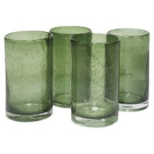 Iris Highball Glass in Sage (Set of 4)