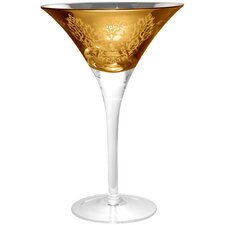 Brocade Martini Glass in Gold (Set of 4)