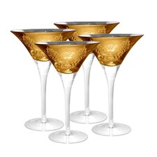 <strong>Artland</strong> Brocade Martini Glass in Gold (Set of 4)