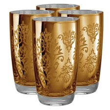 <strong>Artland</strong> Brocade Highball Glass in Gold (Set of 4)