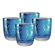 <strong>Artland</strong> Brocade Double Old Fashioned Glass in Blue (Set of 4)