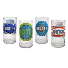 Upcycle Spring Water Highball Glass (Set of 4)