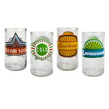 Upcycle Fun in Sun Highball Glass (Set of 4)
