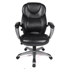 Granton Leather Executive Chair with Adjustable Lumbar