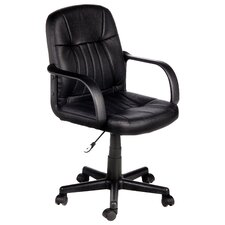 Mid-Back Leather Executive Office Chair