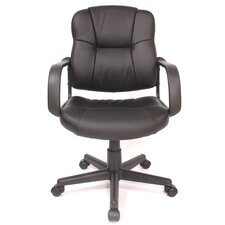 Relaxzen Massage Mid-back Leather Task Chair