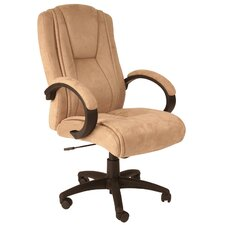 Padded High-Back Faux Suede Executive Chair
